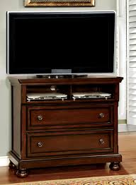 Bedroom Set With Media Chest Northville Dark Cherry Platform Storage Bedroom Set From Furniture
