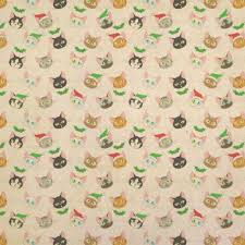 christmas kraft wrapping paper cat faces kraft gift wrapping paper