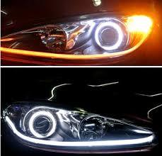 led daylight strip light led strip diy tube style white amber switchback headlight led