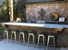 outdoor kitchen design with rustic appeal faux wood workshop