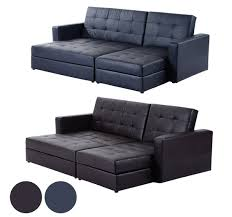 Leather Corner Sofa Beds Uk by Leather Corner Sofa Bed Ebay