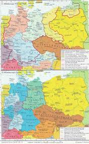 Map Central Europe by Central Europe After 1945