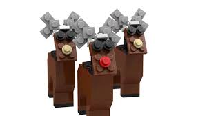 fungineering lego reindeer christmas tree ornament