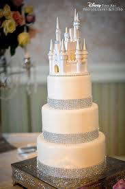 white chocolate cinderella castle bling wedding cake disney