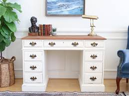 Shabby Chic Writing Desk by Vintage Shabby Chic Solid Cherry Wood Writing Desk White No113