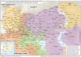 Map Of Turkey And Syria by More Maps Of The Syrian Civil War A