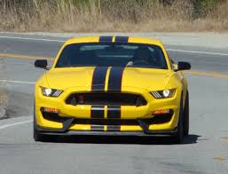Black Mustang Red Stripes Triple Yellow 2016 Ford Mustang Shelby Gt350r Coupe