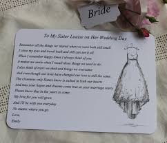 wedding wishes speech wedding card for to be keepsake poem