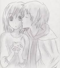 cute anime couples sketch deviantart drawing of sketch