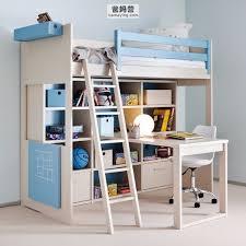Grauer Schreibtisch Holz Schreibtisch Modern Integrierter Stauraum Für Kinder