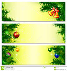 banners with tree bells and balls stock illustration