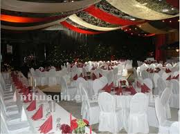 White Banquet Chair Covers Wedding Decoration Chair Covers And Tablecloths Polyester Table