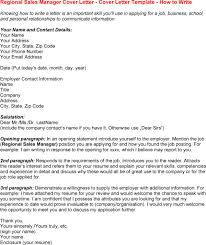 Sample Resume For Regional Sales Manager by Cover Letter For Insurance Sales Manager