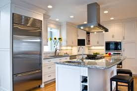 kitchen recessed lighting with modern vent hoods for contemporary