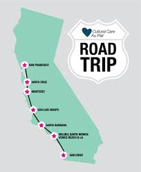 Santa Barbara California Map Roadtrip An Au Pair And Her Family And Friends From Home Travel