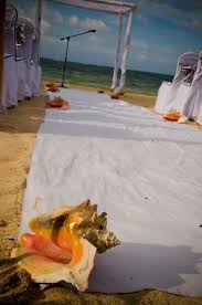 White Aisle Runner Conch Shells Holding Down The White Aisle Runner Picture Of