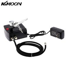 kkmoon 100 250v professional gravity feed dual action airbrush air