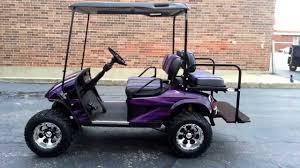 candy purple over black custom lifted ezgo pds golf cart custom
