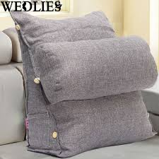 wedge bed pillows adjustable sofa bed pillow chair rest neck support back wedge