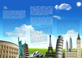 word travel brochure template best and professional templates