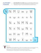 letter n worksheets sparks