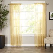 yellow u0026 gold curtains u0026 drapes you u0027ll love wayfair