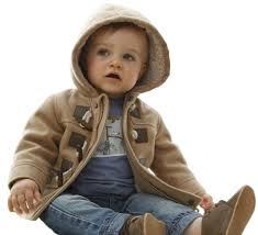 baby boys toddlers cotton blend hooded duffle coat