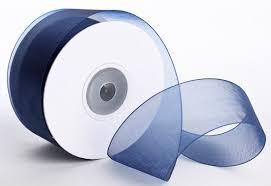 organza ribbon navy blue organza ribbon ribbon and trims craft supplies