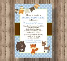 fox baby shower invitation for baby boy woodland forest