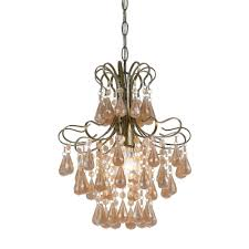 and pearl chandelier af lighting 1 light soft gold mini chandelier with pink
