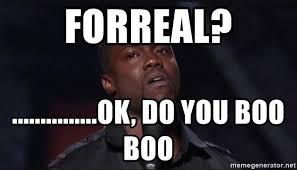 Do You Boo Boo Meme - forreal ok do you boo boo kevin hart face meme
