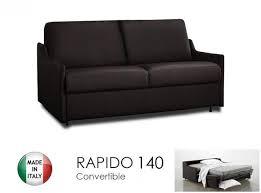 canapé convertible marron canape lit 3 places convertible ouverture rapido 140cm cuir