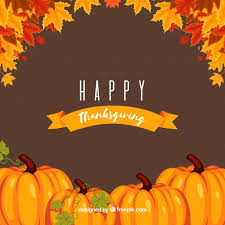 thanksgiving background with pumpkins vector free
