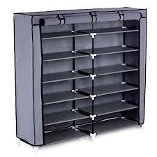 amazon shoe storage cabinet amazon com songmics 7 tier shoe rack 36 pair portable shoe storage