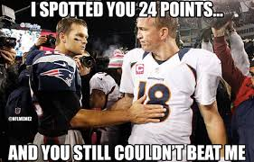 Peyton Manning Tom Brady Meme - nfl memes on twitter tom brady vs peyton manning http t co