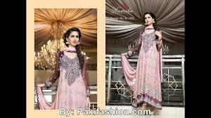 latest pakistani party wear dresses fashion of 2017 youtube