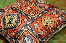 tribal navajo pillow cover red cushion case burgundy navy gold