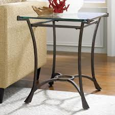 Tall End Tables Living Room by Hammary Sutton Rectangular Glass Top End Table Hayneedle
