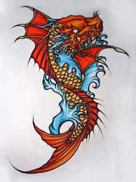 koi fish dragon head tattoo designs 3 jpg 488 650 tattoos