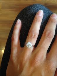 circle engagement ring with halo let me see your halo engagement ring weddingbee