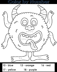 100 free printable halloween color by number pages coloring