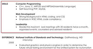 Skills And Abilities For A Resume Skills In A Resume