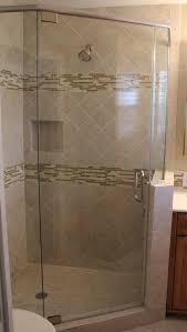 frameless shower enclosure neo angle traditional bathroom