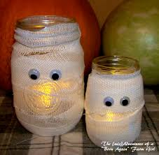 diy mummy candle jar crafts classroom parties etc pinterest