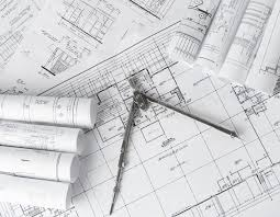 blueprints for house rolls of architecture blueprints and house plans stock image image