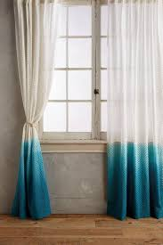 Ombre Sheer Curtains Horizon Blue White Chevron Lace Curtain