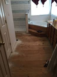flooring for bathroom ideas carpeted bathroom gets a tile floor hometalk