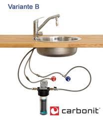 wasserhahn küche montieren carbonit vario küche mit dreiwege armatur und filtereinsatz nfp
