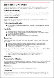 Spanish Teacher Resume Examples by Cv Sample Nursery Teacher