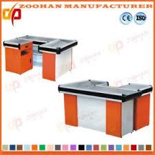 Metal Shop Desk China Retail Store Supermarket Shop Metal Checkout Counter Cashier